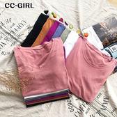 中大尺碼 多色短袖棉素T恤上衣~共兩款7色 - 適XL~5L《 68130 》CC-GIRL