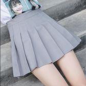 85折-289 洋裙 半身裙 短裙 新款百褶裙軟妹短裙女夏高腰A字裙學生防走光半身裙褲