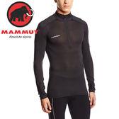 Mammut長毛象1050-01120-0001黑 男超吸濕快乾排汗內衣 Go Dry Zip運動內衣