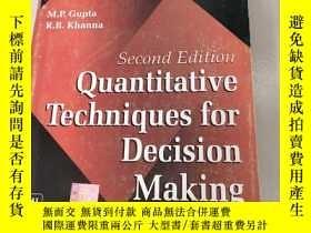 二手書博民逛書店QUANTITATIVE罕見TECHNIQUES FOR DECISION MAKING決策的定量技術[第2版)沒