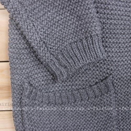 現貨+快速★v領 針織外套 毛衣開衫寬鬆粗針V領單排扣衫★ifairies【20375】
