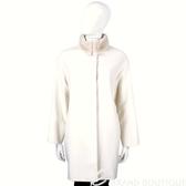 MAX MARA 米色毛領設計羊毛大衣 1440126-03