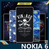 NOKIA 6 彩繪磨砂手機殼 軟殼 卡通塗鴉 超薄防指紋 矽膠套 保護套 手機套 諾基亞
