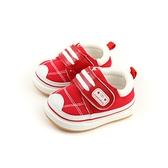 小男生鞋 休閒鞋 布鞋 童鞋 魔鬼氈 紅色 小童 X1845 no018