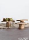 家用復古日式ins風實木質水果點心壽司高腳蛋糕盤木托盤擺盤碟 『新佰數位屋』