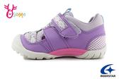 Moonstar 月星 日本機能鞋 中童 玩耍系列 洗滌速乾 運動鞋 護趾涼鞋 I9650#紫色◆OSOME奧森鞋業