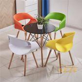 北歐陽台桌椅組合三件套網紅椅創意現代簡約庭院洽談休閒露台桌椅xw
