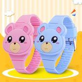 兒童手錶女孩小胖熊學生led電子表可愛動物玩具手錶卡通萌男生