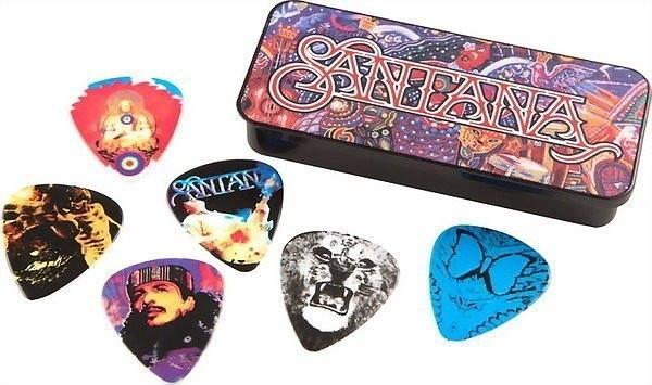 ☆ 唐尼樂器︵☆ Dunlop SANTANA 簽名款電吉他/木吉他/民搖吉他 Pick 彈片(典藏鐵盒6片裝)