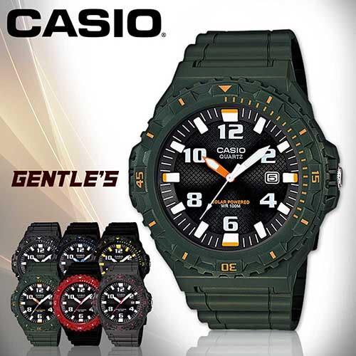 CASIO手錶專賣店 卡西歐 MRW-S300H-3B 男錶 太陽能運動指針 壓克力玻璃 可旋轉錶圈 膠質錶帶