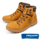 【PEGADA】巴西名品磨砂牛皮經典中筒靴 小麥黃(181054-BR)