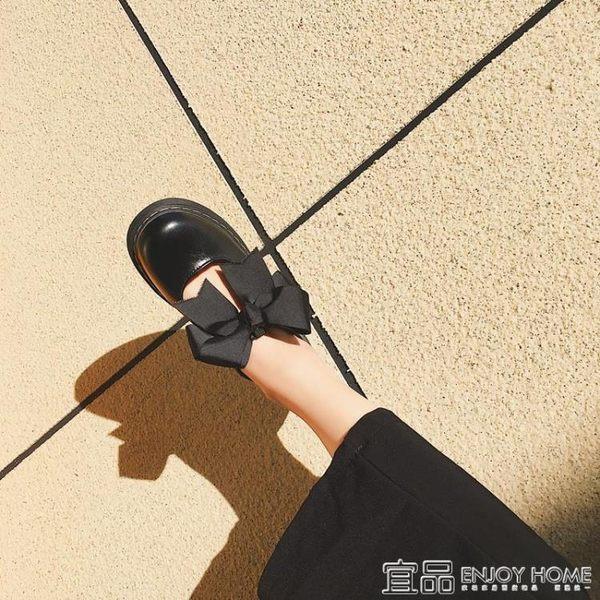娃娃鞋日系原宿學院軟妹Lolita鬆糕厚底鞋圓頭蝴蝶結娃娃鞋少女小皮鞋潮 宜品居家館