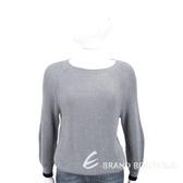 Max Mara-WEEKEND 黑邊袖口設計灰色粗針織毛衣 1840688-06