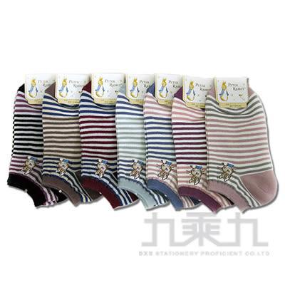 7865 比得兔織花船形襪22-24cm