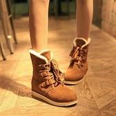中筒雪靴-時尚休閒防水馬丁靴女厚底靴子3色73kg65【巴黎精品】