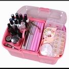 美甲工具箱大號可放光療機收納盒美甲師箱子多功能收納盒整理箱