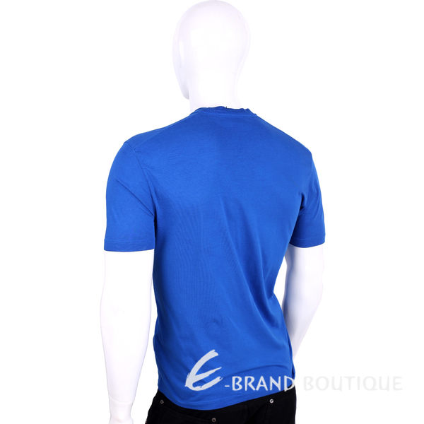 Dsquared2 藍色字母棉質短袖T恤 1620134-23