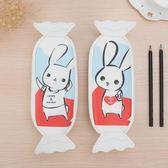 筆袋韓國簡約時尚女生小清新學生可愛兔子奶糖少女心創意鉛筆盒  百搭潮品