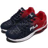 FILA 慢跑鞋 J908R 紅 藍 白底 運動鞋 透氣舒適 基本款 男鞋【PUMP306】 1J908R321
