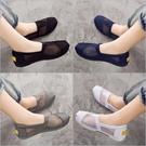老北京布鞋女上班新款百搭平底懶人鞋女一腳蹬透氣布鞋女學生韓版 滿天星