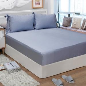 【FITNESS】60S天絲刺繡雙人加大三件式床包組-多色任選古典灰6*6.2