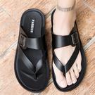 拖鞋男 拖鞋男外穿男士拖鞋夏季防滑沙灘人字拖男潮流韓版涼拖男個性涼鞋 瑪麗蘇
