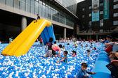 粉粉寶貝*台灣製~藍白海洋色系遊戲彩球 ~100球賣場~安全無毒遊戲球(球屋、球池專用)~特價~~