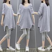 孕婦夏裝睡衣套裝時尚款網紅夏季外出韓版兩件套潮寬鬆孕婦上衣t恤夏 PA17774『毛菇小象』