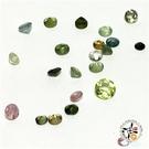 深綠碧璽 寶石1.5-2.5mm 1顆【十方佛教文物】