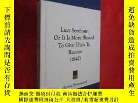 二手書博民逛書店Lucy罕見Seymour: Or It Is More Blessed To Give Than To Rece