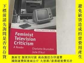 二手書博民逛書店Feminist罕見Television Criticism: