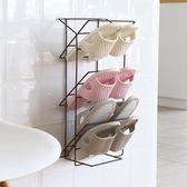 鞋架創意壁掛式立體多層簡易家用粘貼式鞋子收納架浴室 歐亞時尚