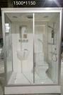 【麗室衛浴】E-352 包租公包租婆最愛.豪華整體浴室 適合遊艇.貨櫃屋.露營車等 150*115*H220CM