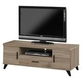 【森可家居】珂琪4 尺電視櫃8ZX590 4 長櫃木紋 北歐工業風