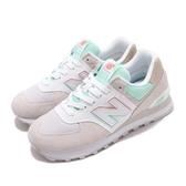 New Balance 休閒鞋 574 麂皮 米色 粉紅 綠 女鞋 復古鞋 【PUMP306】 ML574SCED