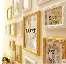 實木雕花掛牆相框牆飾客廳照片牆組合單框臥...