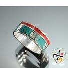 六字真言{綠松石}銀戒指(1個)【十方佛教文物】