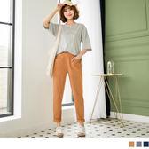 《BA4086》純色車線腰圍鬆緊寬版老爺褲 OrangeBear