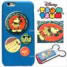 免運 官方授權 迪士尼 Tsum Tsum 疊疊樂 立體 皮革 Q版 iPhone 6 6S Plus 手機殼 保護套 皮套 米奇徽章