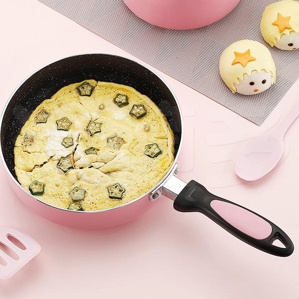 櫻花粉20公分不沾鍋 平底鍋 煎鍋 SIN6858【無蓋】