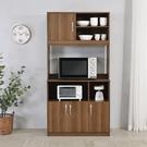 木質 餐櫃 電器櫃 收納櫃 置物櫃 櫥櫃 廚房櫃【N0109】蓋亞高廚房櫃(質感棕) 完美主義 AC