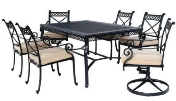 【南洋風休閒傢俱】戶外休閒桌椅系列- 166公分長方戶外餐桌椅組  鋁合金餐桌椅  (#385 #20309 #20309A)