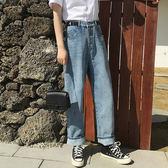 3166#韓國時尚百搭拖地長褲寬松高腰闊腿褲顯瘦牛仔褲女學生長褲D103A2衣人有約