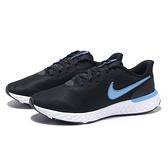 NIKE 慢跑鞋 REVOLUTION 5 EXT 黑水藍 輕量 透氣 男 (布魯克林) CZ8591-004