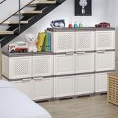 加厚組合簡約現代兒童簡易寶寶衣櫃廚房整理箱儲物櫃ATF 童趣潮品