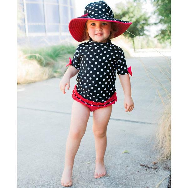 美國RuffleButts 女寶寶 二件式泳裝 多件式泳衣 米妮點點【RURGSBP】