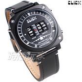 Click 飛機儀表板 創意 造型 腕錶 創新風格 趣味 皮帶 IP黑電鍍色 男錶 CL-713B-BKBK-R