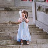 女童漢服唐裝襦裙中國風刺繡寶寶連衣裙日常古裝