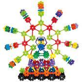 黑五好物節 樹葉雪花插片積木塑料拼插積木早教拼裝玩具【名谷小屋】