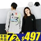 長T-TRIPLE人像大學T-街潮情侶造型款《04899714》共2色『RFD』